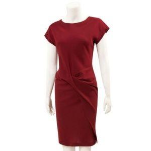 ARYN K Burgundy red side twist dress